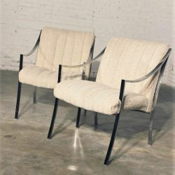 1970's Milo Baughman Style Chrome Chairs by Carson, Inc.