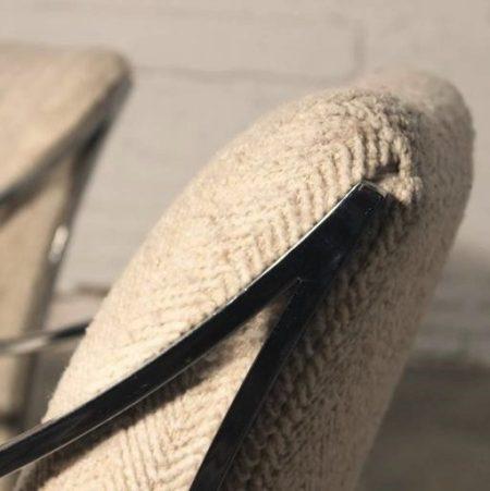 1970's Milo Baughman Style Chrome Chairs by Carson, Inc.