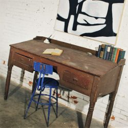 Primitive Wooden Antique Standing Desk