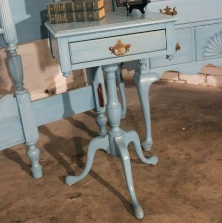 Antique Shabby Chic Painted Early American Federal Night Stand