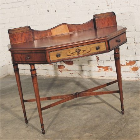 Antique French Hand Painted Desk or Vanity