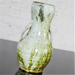 Vintage Sunset Mountain Pottery Vase