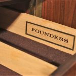 Jack Cartwright Honduran Rosewood Book-Matched 4 Door Cabinet for Founders Furniture Co.
