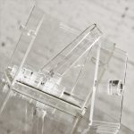 Mid Century Modern Square Lucite Ice Bucket and Tongs
