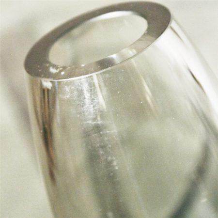 Vintage MCM Holmegaard Per Lutken Smoke Gray Glass Hellas Vase Signed 1961