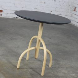 Knoll Saguaro Cactus Wood Base Table with Slate Top by Lawrence Laske