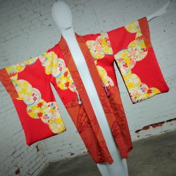 Vintage Japanese Haori Kimono Jacket – Reversable Rust & Red