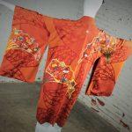 Vintage Japanese Haori Kimono Jacket – Reversable Rust & Red