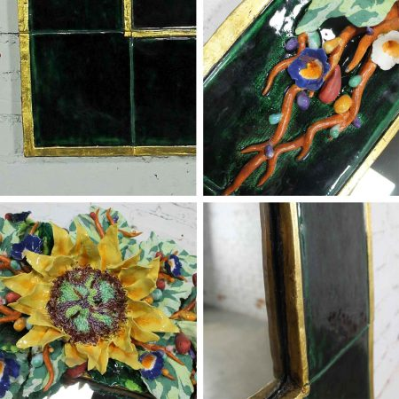Contemporary Ceramic Floral Large Mirror by George Alexander