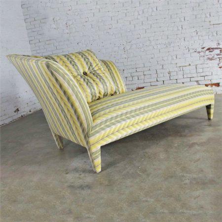 Vintage Donghia Yellow Stripe Spirit Chaise Longue by John Hutton
