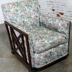 Art Deco Oak and Upholstered Club Chair