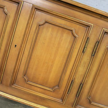 John Widdicomb Painted Regency Credenza with Gilt Accents