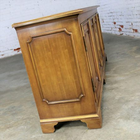 John Widdicomb Painted Hollywood Regency Credenza with Gilt Accents