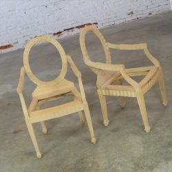 Donghia Style Hollywood Regency Art Deco Modernist Arm Chair Frames Unfinished