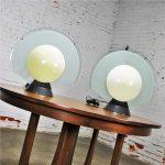 Vintage Pair Tikal 1555 Table Lamps by Pier Giuseppe Ramella for Flos-Arteluce