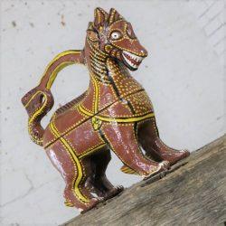 Large Asian Dragon Papier Maché Figural Box