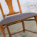 Baker Chippendale Style Dining Chairs with Solid Splat and Turned Front Legs Set of Six