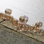 Small Gold Speckled Roly Poly Cocktail Glasses Style of Dorothy Thorpe MCM Set of Twelve