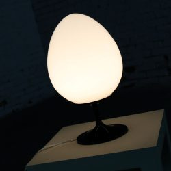 Bill Curry Stemlite Tulip Base Table Lamp for Design Line with Egg Shaped White Globe