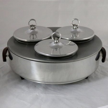 Buenilum Triple Buffet Food Warmer and Server Electric Mid Century Modern