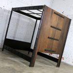 Canopy Asian Influenced Campaign Style Faux Bamboo Queen Bed Henredon Manner of James Mont