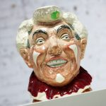 Royal Doulton The Clown Character Toby Jug D6322 with White Hair