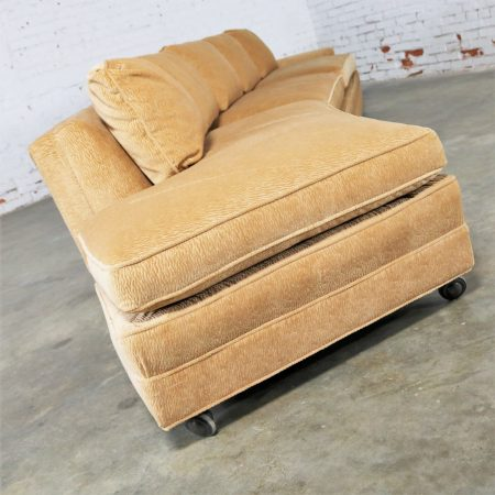 Extra Long Curved Single Arm Sofa Style of Harvey Probber