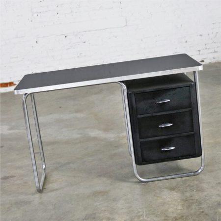 Art Deco Streamline Moderne Machine Age Desk by Walter Dorwin Teague for Texaco
