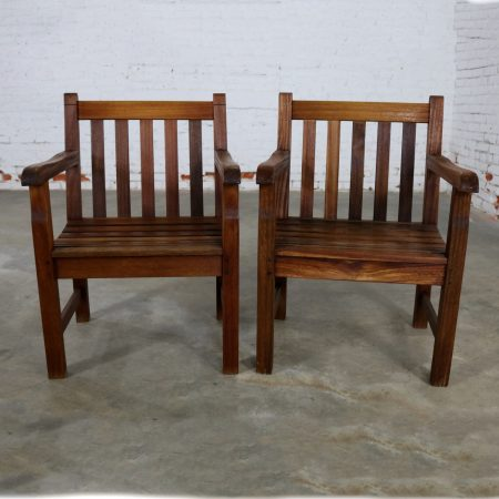 Vintage Windsor Natural Teak Outdoor Armchair