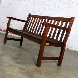 Vintage Windsor Natural Teak Outdoor Three Seat Bench