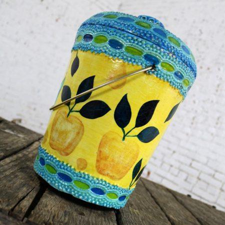 Mid Century Mod Styrofoam Ice Bucket Aldo Londi Style Rimini Blue Color