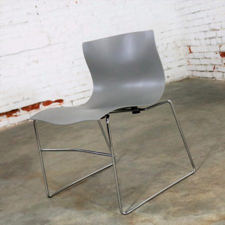 Knoll Handkerchief Side Chairs in Gray by Massimo & Lella Vignelli, a Pair