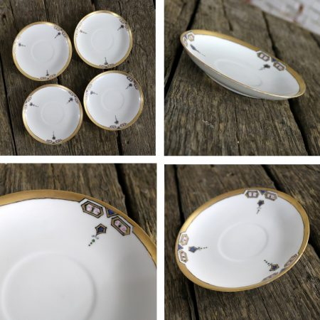 Art Deco J and C Bavaria China Luncheon Set for Four