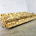 Mid Century Four Cushion Lawson Sofa in Jack Lenor Larsen Style Velvet