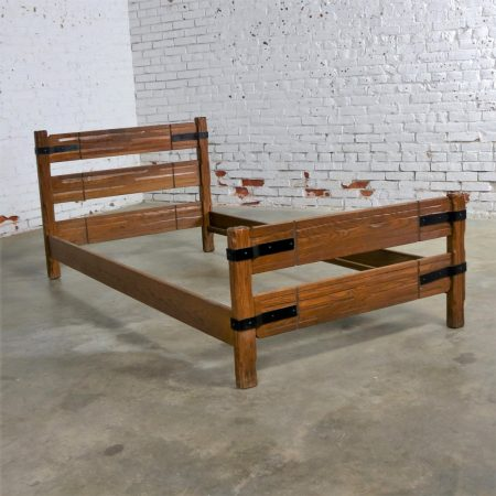 A. Brandt Company was established in 1900 but the Ranch Oak furniture debuted in Fort Worth, Texas in 1938 and continued until the mid-1980s. It was used in ranch homes, mountain homes, dude ranches, and basement rec rooms across the nation.