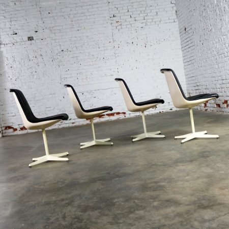 Set of Four Richard Schultz Stacking Dining Chairs for Knoll.