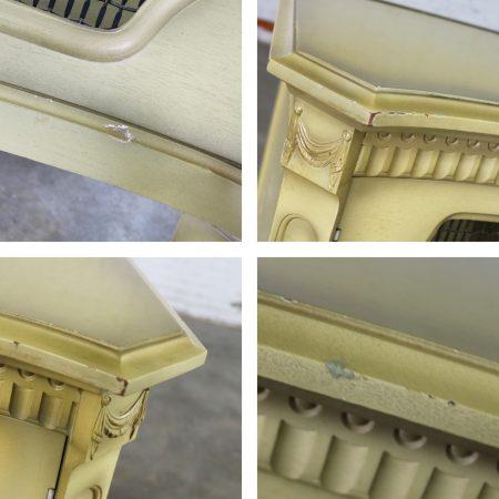 Hollywood Regency Dry Bar Liquor Cabinet Mid Century with Golden Glo Finish