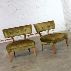 Pair of Hollywood Regency Slipper Chairs Style of Lorin Jackson for Grosfeld House