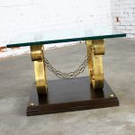 Large Square Glass Top Hollywood Regency Spanish Revival End Table Style of Arturo Pani