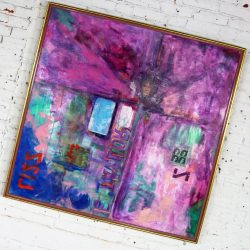 Lizz Mixed Media Acrylic and Collage on Canvas by Ronald Frederick Dockter