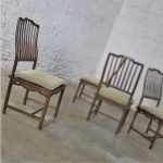 Four Drexel Heritage Chinoiserie Ming Style Spindle Back Dining Chairs