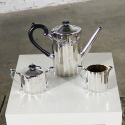 Colonial Classic Silverplate Coffee Service by Lunt Silver Includes Coffee Pot Creamer and Sugar Bowl