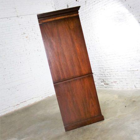 Georgian Style Large Mahogany Entertainment Armoire Wardrobe Cabinet by Hekman