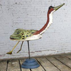 Folk Art Driftwood Sculpture of Large Waterfowl by Kilbride of Vermont Folk Art