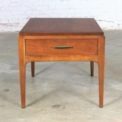 Lane Rhythm Walnut End Table with Drawer Mid Century Modern