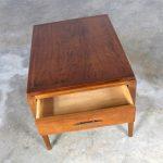 Lane Rhythm Walnut End Table with Drawer Mid Century Modern