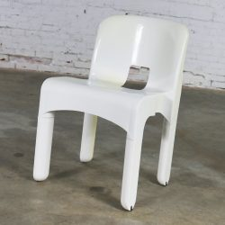 Sedia Universale 4867 Plastic Chair by Joe Columbo for Kartell in White
