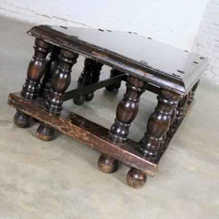 Spanish Revival Style Rectangular Coffee Table Artes De Mexico Internacionales Attribution