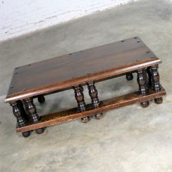 Spanish Revival Style Rectangular Coffee Table Artes De Mexico Internacionales Attribution
