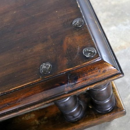 Spanish Revival Style Square End Table with Nail Heads by Artes De Mexico Internacionales, SA